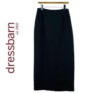 DRESSBARN   Black Full Length Pencil Skirt